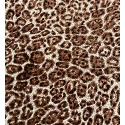 Tissu Viscose Imprimée fauve