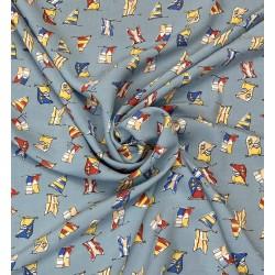 Tissu Viscose Imprimé drapeau